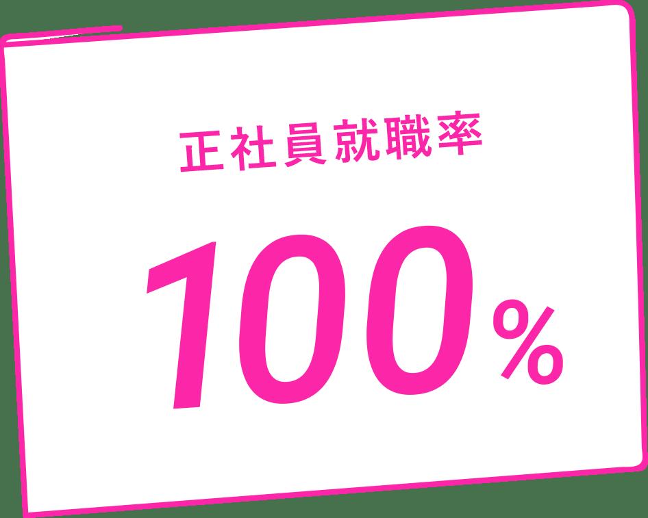 正社員就職率100%